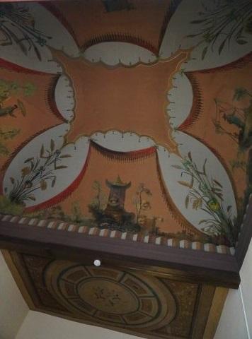 Techos de la habitación contigua a la antesala del despacho del director del CEPC. Fuente: unserenotransitandolaciudad.com
