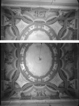 V. Moreno, Techo del antiguo Ministerio de Marina, «salón de los encajes», hacia 1929, IPCE, Archivo Moreno, inv. 03937_C y 03959_C. Fuente: ipce.culturaydeporte.gob.es