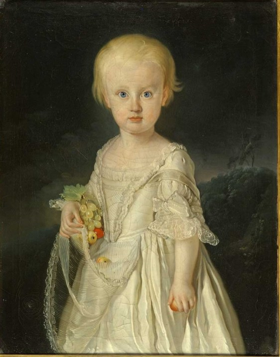 Fig. 4a. Retrato de María Teresa de Nápoles, niña. Florencia, Galería degli Uffizi, nº inv. 00641994.