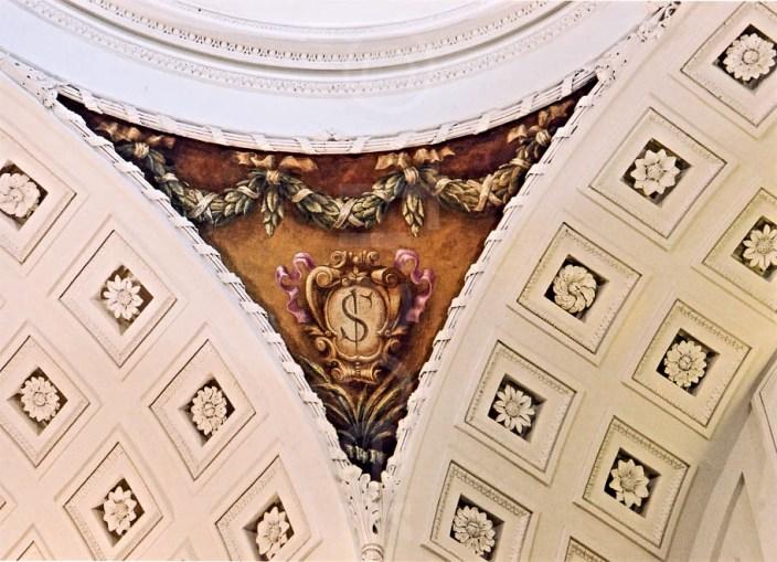 Detalle de una de las pechinas tras la restauración en 2003. Fotografía: Tracer Restauración.
