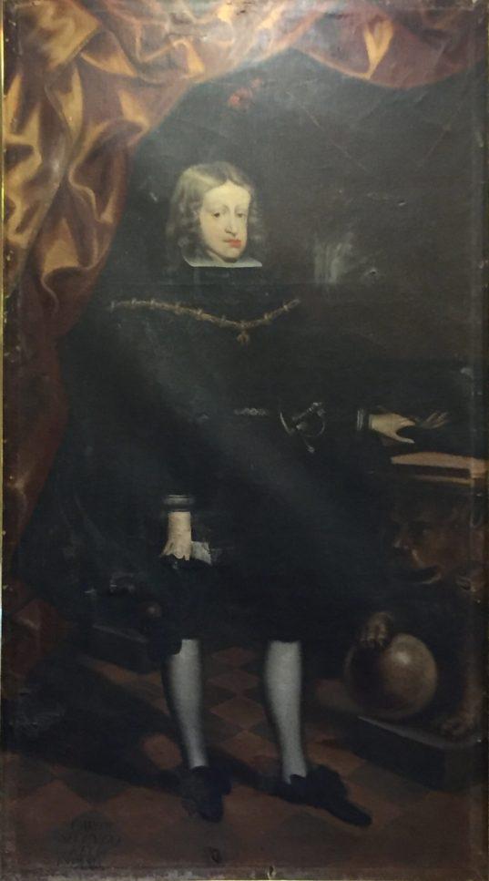 Joan Arnau?, Carlos II, 1678. Paeria de Cervera. Foto: Investigart.