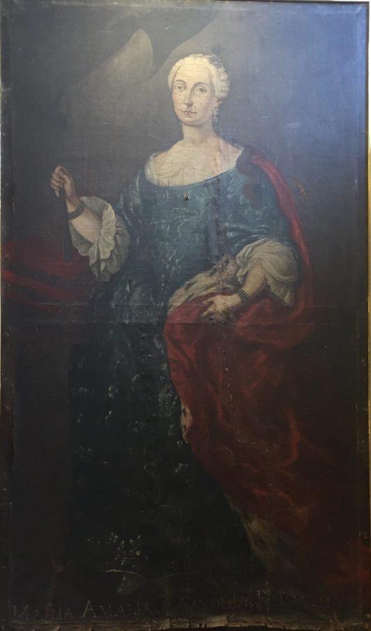 Anónimo, María Amalia de Sajonia, ca. 1759. Paeria de Cervera. Foto. Investigart.