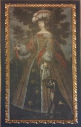 Escuela española, María Luisa de Orleáns, finales siglo XVII. Parador de Santiago de Compostela. Foto: @KurtBravo.