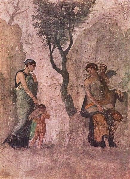 Anónimo, El Castigo de Eros, ca. 25 a.c. Museo Arqueológico Nacional de Nápoles. Foto: @dinamittEros