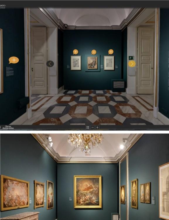 Vistas de la misma sala en Carlos III. Majestad y ornato… (2016). Fuentes: © Patrimonio Nacional y Jesús Moreno & Asociados