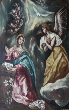 El Greco, Anunciación, ca. 1610. Catedral de Sigüenza.