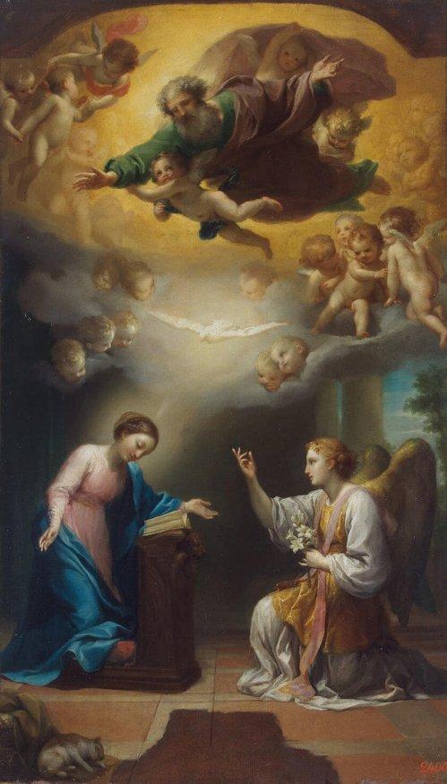 Anton Raphael Mengs, Anunciación, 1779. San Petersburgo, Museo Hermitage.