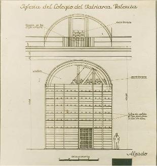 Iglesia del colegio del Patriarca. Valencia. Archivo Vaamonde, Fototeca IPCE.