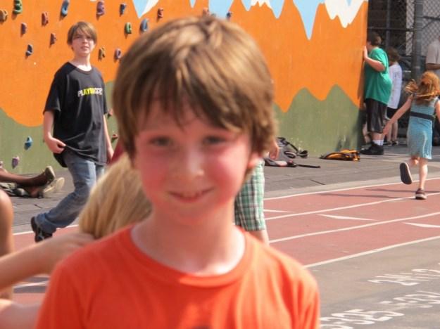Adrian in schoolyard