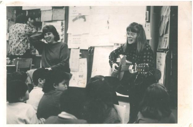 Connie, me and kids- joyful singing
