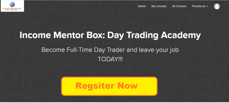 Income Mentor Box support and resistance Trading Lessons