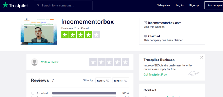 Income Mentor Box Trustpilot