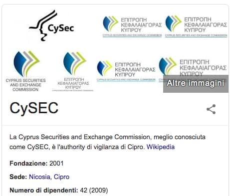CySEC Ente di Regolamentazione