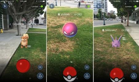 Uno screenshot di Pokemon Go