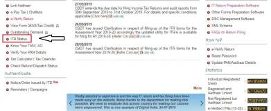Tax Refund Using Income Tax E-filing Website