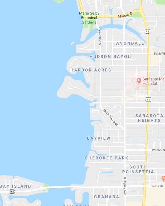 West of Trail in Sarasota, Florida area map