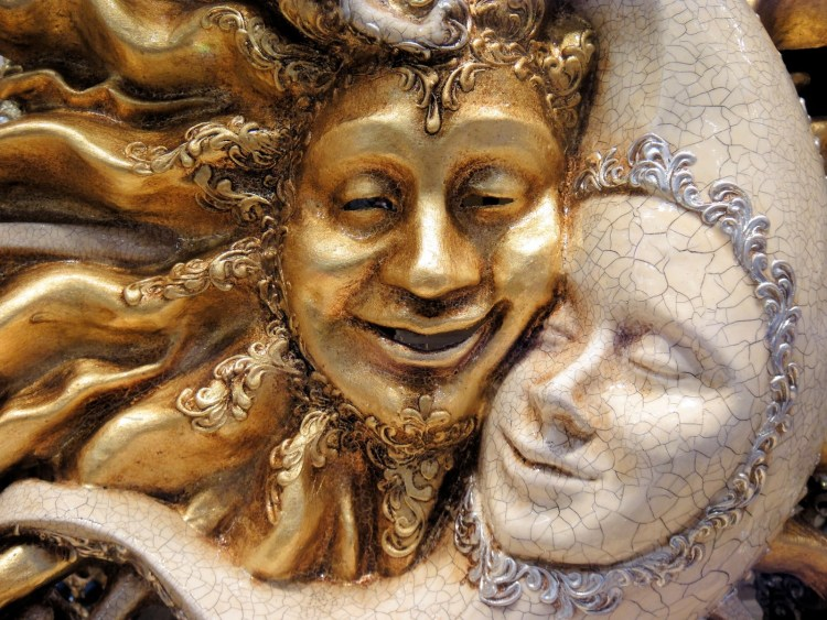 Overseas Masks, Gold, Venice, Carnival, Face
