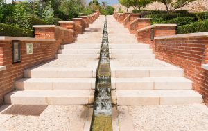 Stairs waterfall Alcazaba gardens, Almeria, Spain - Forex Options