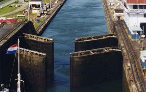 Panama Canal Gatun Locks opening an IRA