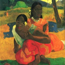 "Paul Gauguin's lush, 1892 double portrait, ""Nafea Faa Ipoipo (When Will You Marry?)."""