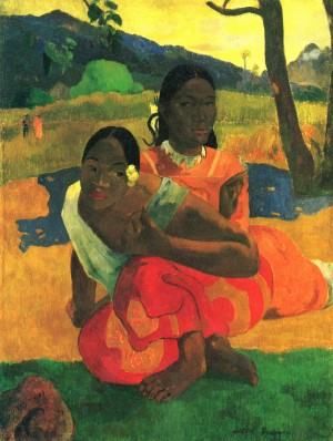 """Paul Gauguin's lush, 1892 double portrait, """"Nafea Faa Ipoipo (When Will You Marry?)."""""""