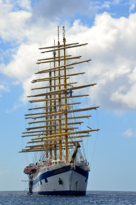 The five masted tall ship Royal Clipper - offshore banks