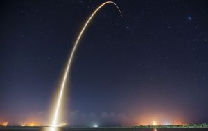 SpaceX's Falcon 9 rocket delivered the ABS 3A and EUTELSAT 115 West B satellites to a supersynchronous transfer orbit, launching from Space Launch Complex 40 at Cape Canaveral Air Force Station, Florida on Sunday, March 1, 2015 - IRA