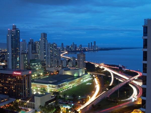 Panama city at night - Second Passport.