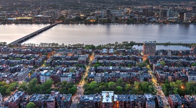 The Back Bay of Boston  from the Prudential Skywalk - Capital Asset