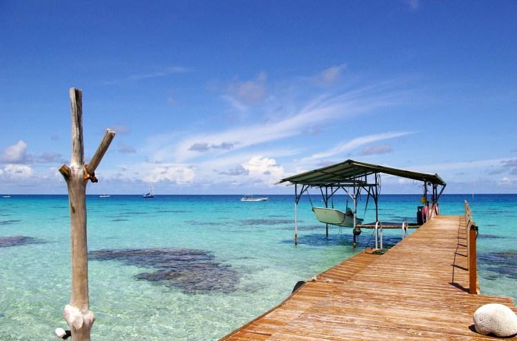 Fakarava inner lagoon taken from a pontoon near the village of Rotoava (The Tuamotus, French Polynesia) - Retirement Plan