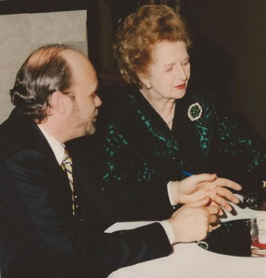 Marty and Margret Thatcher at a seminar in Princeton in 1998