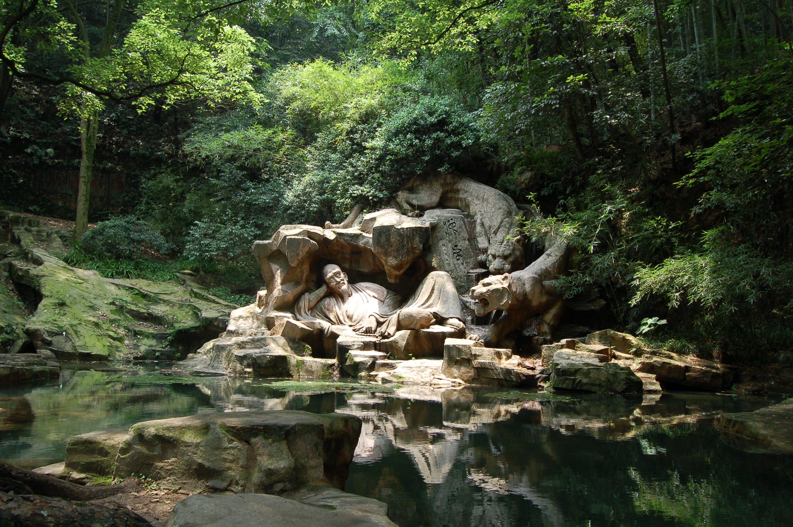 "Hupao (""Dreaming of the Tiger"") Spring (Hupaomengquan) in Hangzhou, China"