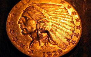 1929 U.S. Quarter Eagle - End of the bear market in gold