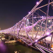 Helixbridge, Bridge, Lights, Night, Singapore - Dillon Gage Metals