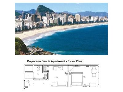 Copacabana beach apartment, Rio de Janeiro, Brazil