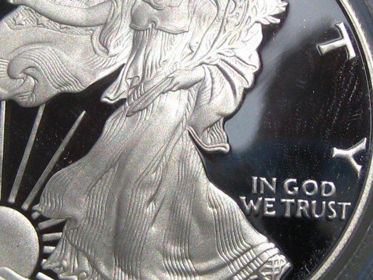In God we trust bullion shares