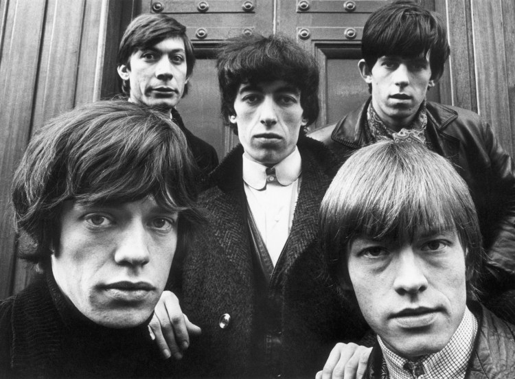 The Rolling Stones outside St. George's Church in Hanover Square, London, January 17, 1964.