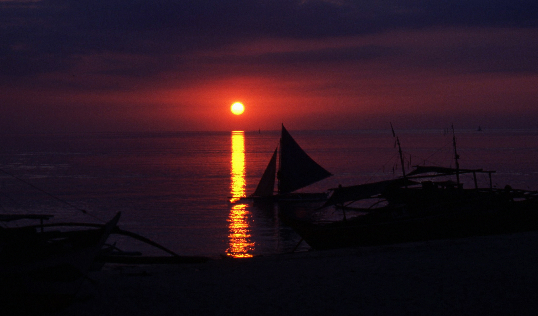 Sunset at Boracay, Philippines
