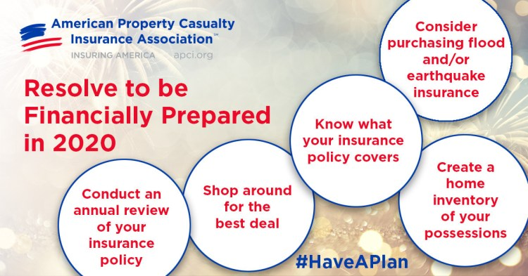 APCIA urges you to follow these five steps to be financially prepared in 2020.