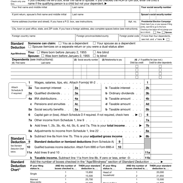 Form 1040-SR: Seniors Get a New Simplified Tax Form