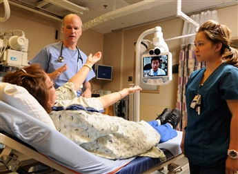 Telemedicine connects patients remotely with health care experts. AP