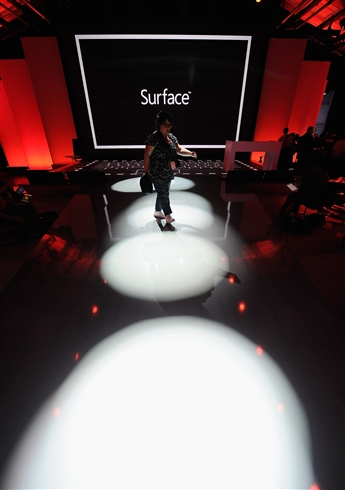 Microsoft hopes its Surface tablet boosts its December quarter. Getty Images