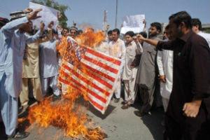 AP (Demonstrators express appreciation for U.S. aid)