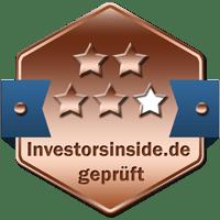 Prüfsiegel Bronze Broker Vergleich Investors Inside