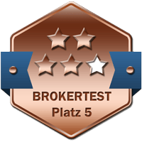 Brokertest Medaille 5ter Platz