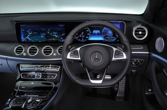 luxurious interior of the Mercedes-Benz E-Class Estate