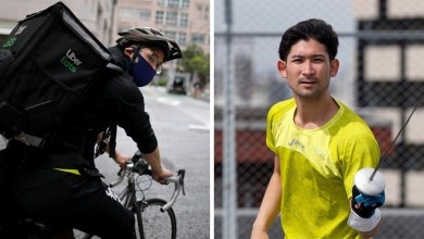 Photo of Japan's top fencer and Olympic medal winner 'Ryo Miyake' turns delivery boy amid Covid-19