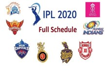 ipl 2020 date and time table