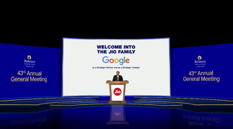 google investment in jio news