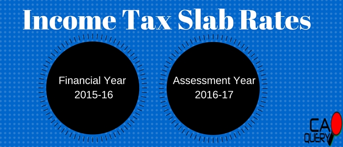 Income Tax Slab Rates FY 2015-16 AY 2016-17 India